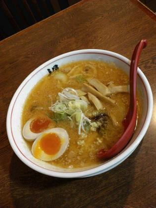 らーめんの店 梶、味噌ラーメン(味玉)3