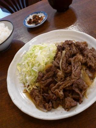 サンオリーブ、牛生姜焼き定食2