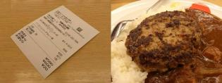 松屋カレー(並)ハンバーグ2