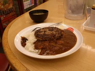 松屋カレー(並)ハンバーグ3