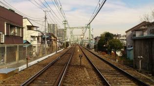 横浜駅西口から京急、神奈川新町駅まで歩く(内容は仲木戸駅まで)3