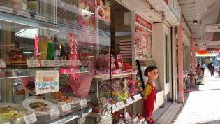 大口商店街の日本堂でパンを買う。6