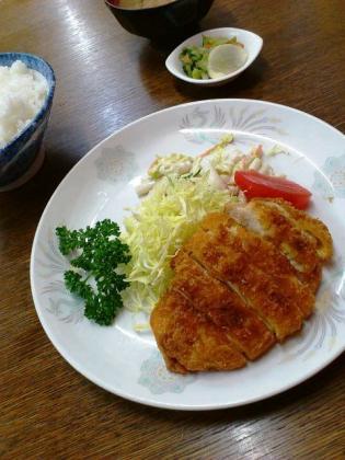 二俣川、わかば食堂、チキンカツ定食3