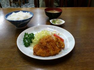 二俣川、わかば食堂、チキンカツ定食5