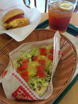 モスバーガー期間限定ナン・タコスマリネと塩糀(しおこうじ)バーガー 雅(みやび) 長芋&かんずりソース仕立て3