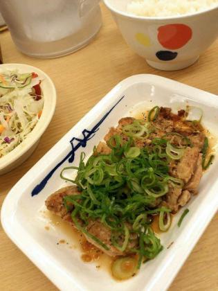 松屋で厚切りチキングリル定食3