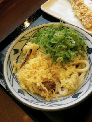 丸亀製麺、ぶっかけ(並)冷し、ちくわ天3