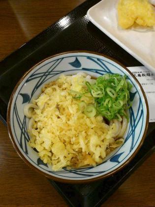 丸亀製麺でぶっかけうどん(冷)(並)、エビ天、きす2