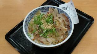 吉野家焼味ねぎ塩豚丼(並盛)3