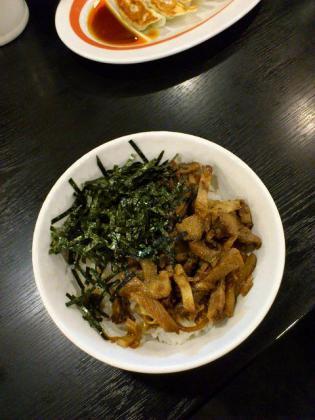 幸楽苑でチャーシューー丼+餃子のAセット2