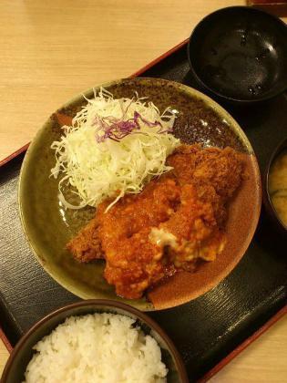 2012.09松乃家チーズとまとチキン定食2