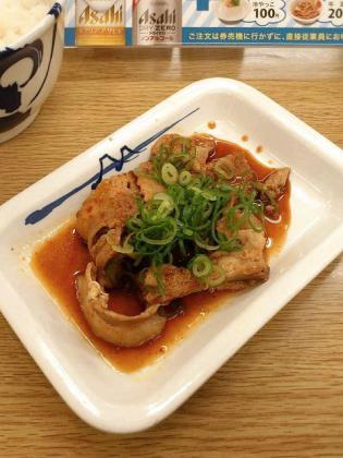 2012.09松屋、旨辛豚カルビ定食3