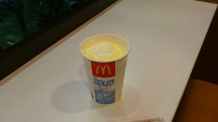マクドナルド、期間限定バナナシェイクM3