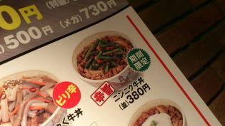 すき家期間限定ニンニク牛丼(ミニ)2