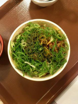 すき家ねぎ玉牛丼ミニ1