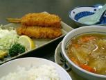 和食いちばんで串かつと肉じゃが