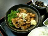 まぐろ竜田揚+定食セット