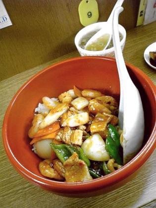 三陽御用亭、三陽丼+餃子1