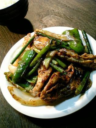 自炊 にんにくの芽の中華味噌炒め1