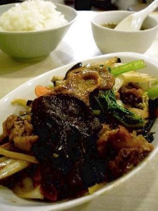 龍味 茄子の味噌炒め定食1