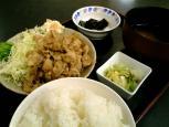 和食一番で生姜焼き定食