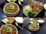 和食いちばんで鶏の中華風揚、モツ煮