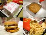 【外食編第990回目マクドナルドでメガシリーズ復活第1弾メガてりやき+メガポテト+ドリンクL。】