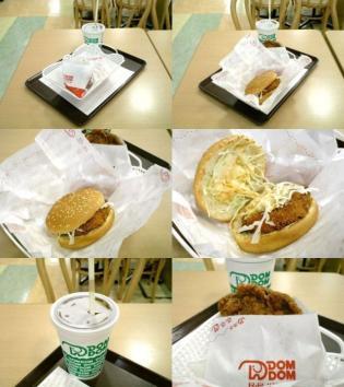 ドムドムハンバーガー、夏限定プリッぷりっエビカツバーガーとドムチキン、コーラS4