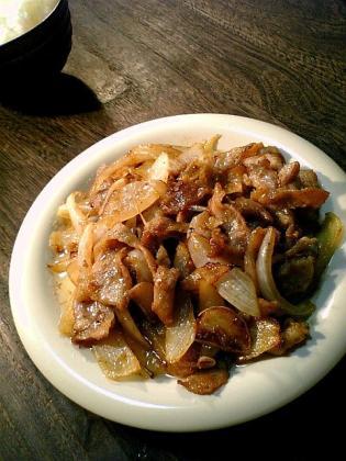 豚ばら生姜焼き1