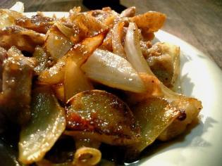 豚ばら生姜焼き2
