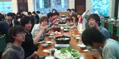 交流合宿2010:すき焼き2