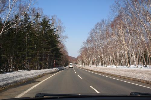 白銀の道路