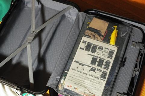 スーツケース。半分以上空いている。