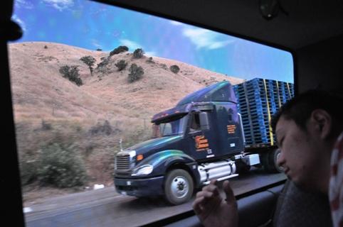 ミッチーさんとトラック