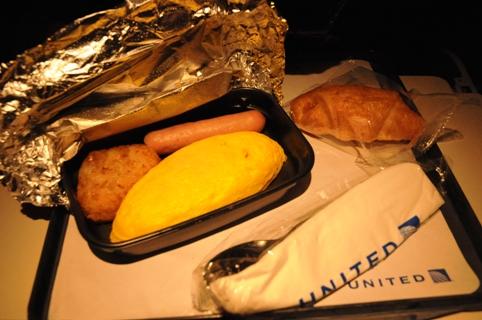 二回目の機内食