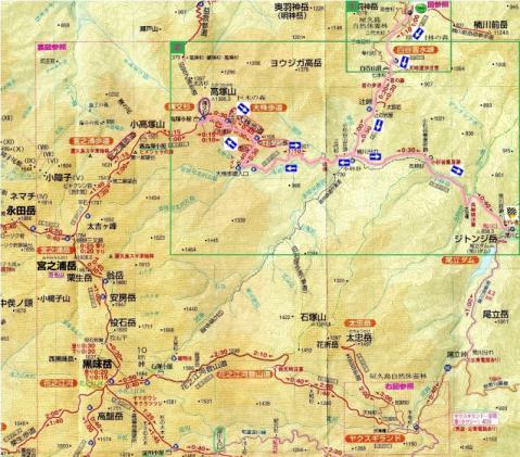 宮之浦岳登山地図