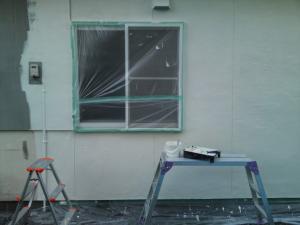 外壁を塗った