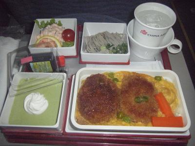 中華航空機内食2