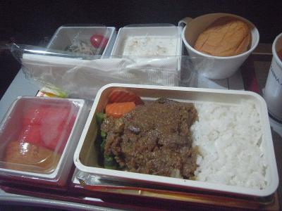 中華航空機内食1