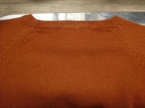 毛染めセーター20120706後1