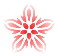 紅弁梅花輪