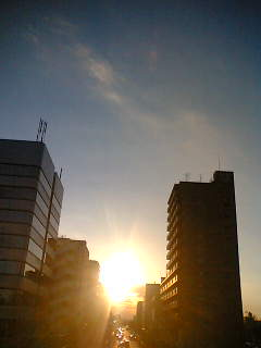 富士見テラスの夕日