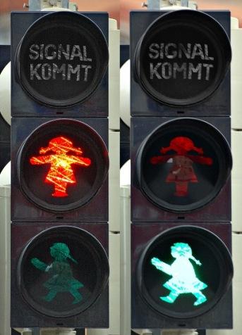 ドイツのカワイイ信号機