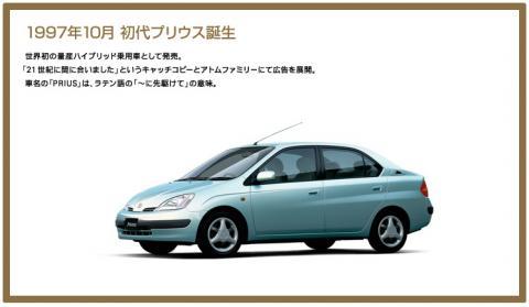 プリウス日本語サイトにも年表はありましたが…