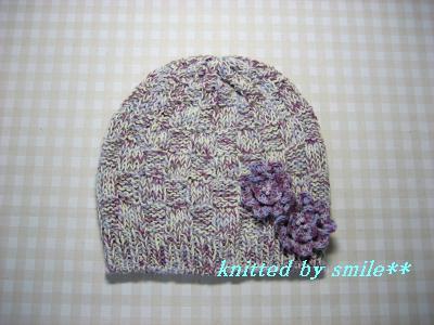 春のコサージュ帽