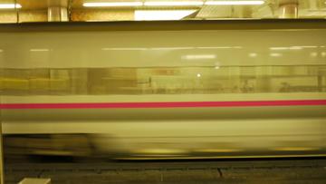 走る新幹線
