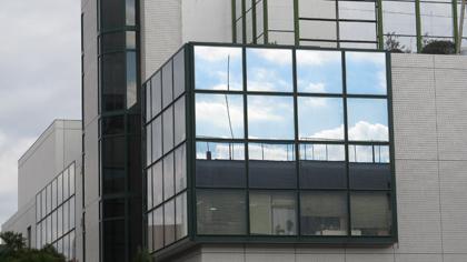 窓に映った雲