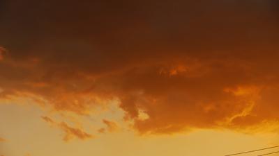 16日の夕焼け