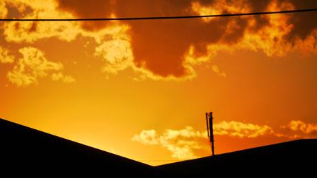 真っ赤な夕焼1