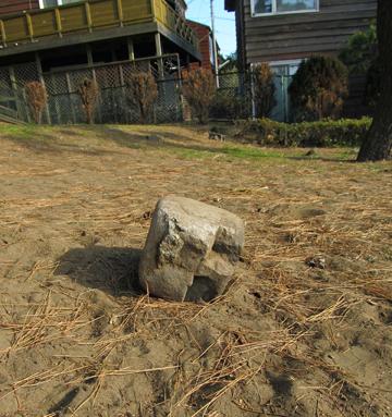 寝ている石